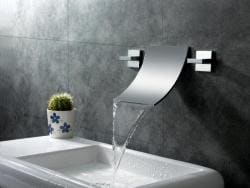 Sumerain Waterfall Double-Handle Bathroom Sink Faucet