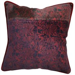 nuLOOM Handmade Ethnic Chic Red Decorative Pillow