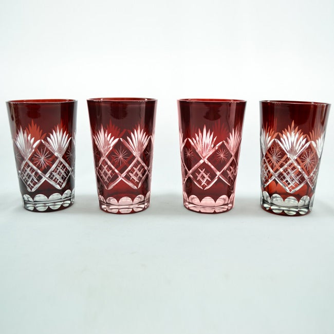 Three Star Hi Ball Red Wine Glass Set (Set of 4)