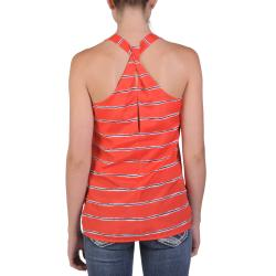 T by Hailey Jeans Co. Juniors Lightweight Racer Back Striped Top