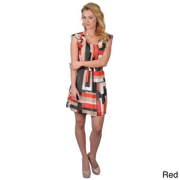 T by Hailey Jeans Co. Juniors Scoop Neck Tie Waist Dress