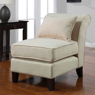 Slipper Creme Linen-look Chair