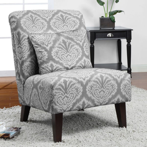 Anna Grey Ikat Accent Chair