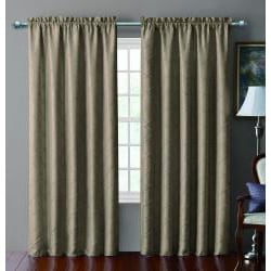 Sable Pintucked Taffeta Blackout 84 inch Curtain Panel