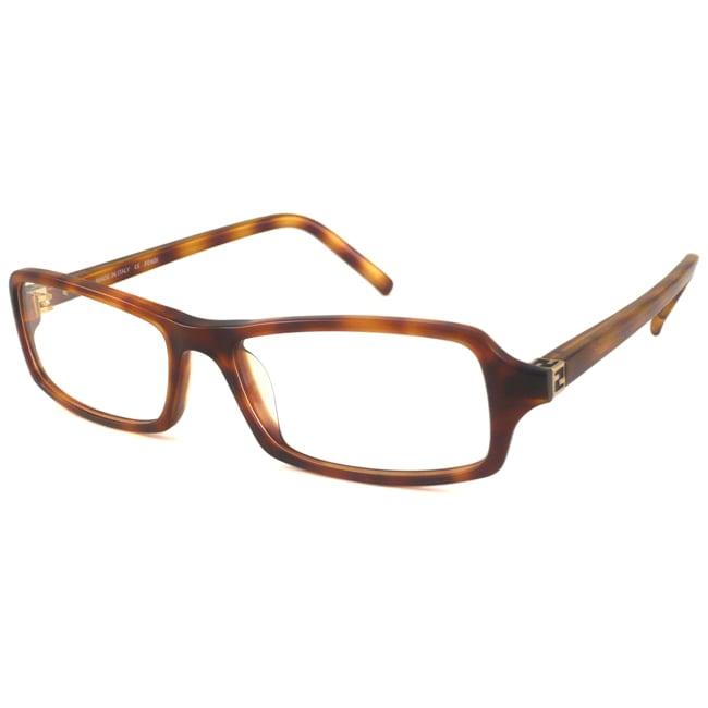 Fendi Readers Unisex F866 Light Havana Rectangular Reading Glasses
