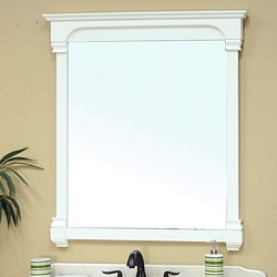 Bellaterra Home Cream White 42-inch Mirror