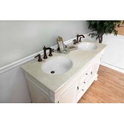 Bellaterra Home Cream White 60-inch Double Vanity