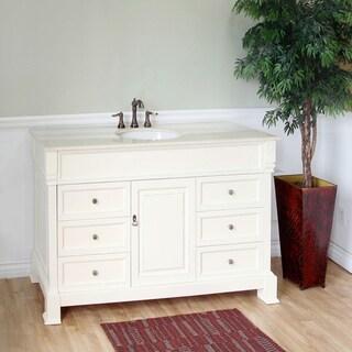 Bellaterra Home Cream White Bathroom Vanity