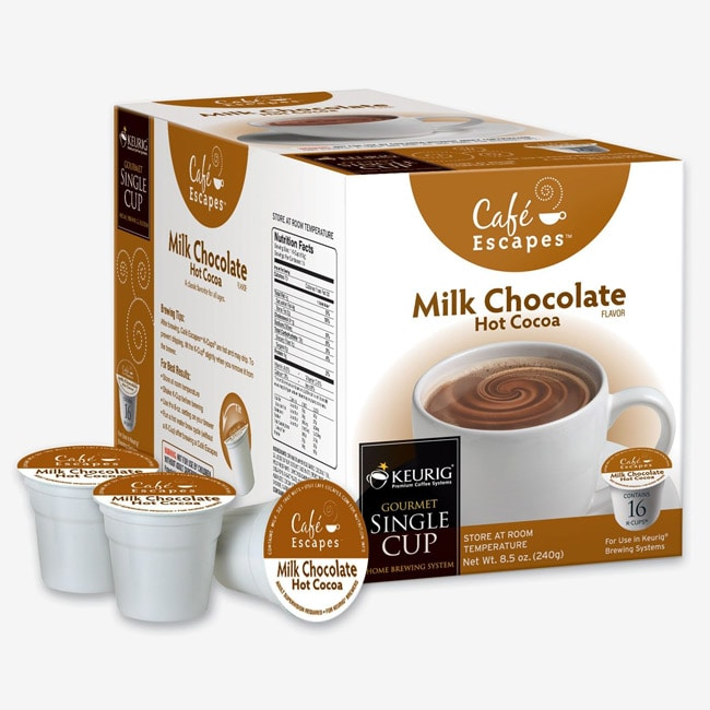 Café Escapes Hot Cocoa K-Cups for Keurig Brewers (Pack of 96)
