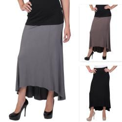 Journee Collection Juniors Paneled Hi-low Maxi Skirt
