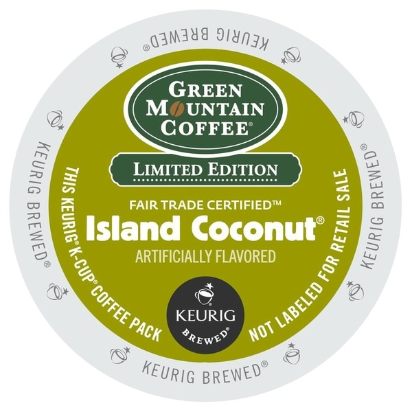 Green Mountain Coffee Island Coconut K-Cups for Keurig Brewers - White 18289928