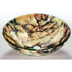 Brown Tempered Glass Sink Bowl