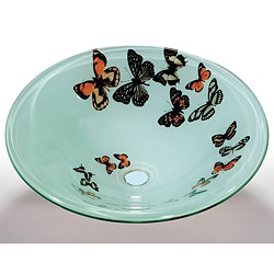 Butterfly Glass Sink Bowl