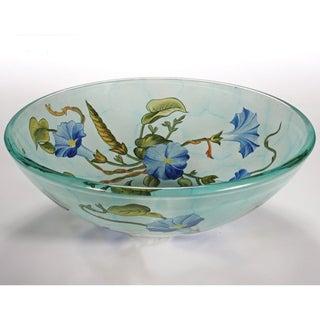Floral Glass Sink Bowl