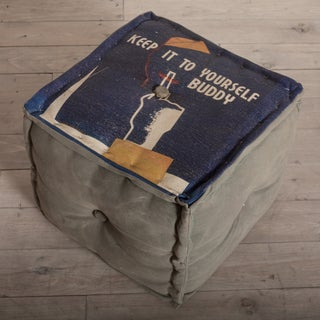 Canvas 'Keep It To Yourself Buddy' Pouf (India)