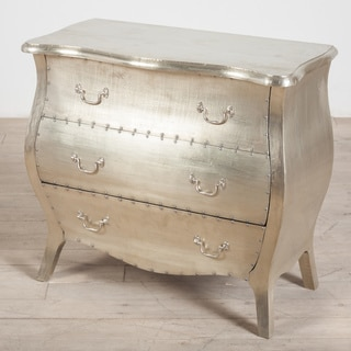 Corbett White Metal 3-Drawer Dresser (India)