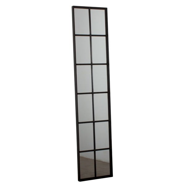 Tall 12-pane Iron Window Mirror