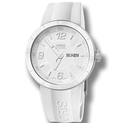 Oris Men's TT1 White Date Watch