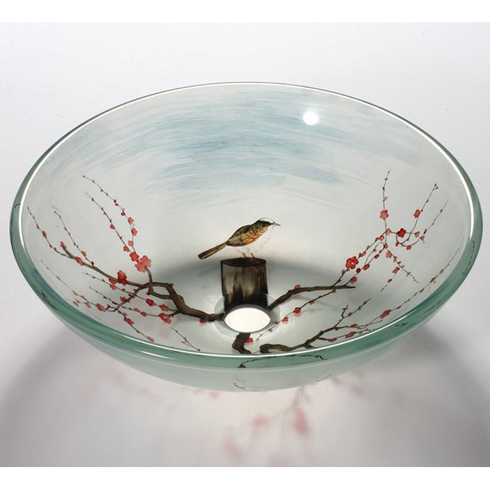 Glass Bathroom Sink Bowls : Tempered Glass Sink Bowl - 14517030 - Overstock.com Shopping - Great ...