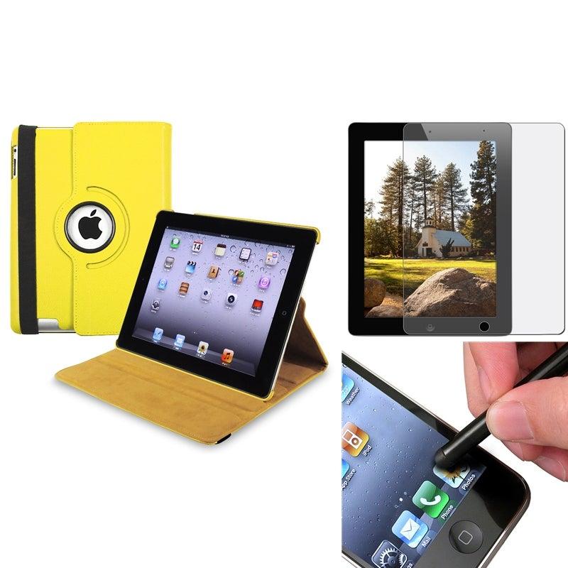 Yellow Case/ Anti-glare Screen Protector/ Stylus for Apple® iPad 3