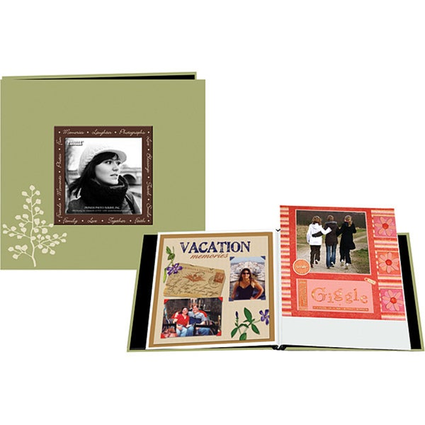 Pioneer 12 x 12-Inch 20-Page Designer Raised-Frame Scrapbook with Bonus Refill Pages
