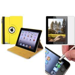 Leather Case/ Anti-glare Screen Protector/ Stylus for Apple iPad 3