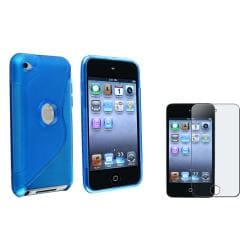 TPU Case/Anti-Glare Screen Protector for Apple iPod Touch Generation 3