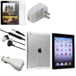 BasAcc Crystal Case/ Screen Protector/ Chargers/ Headset for Apple� iPad 3/ 4