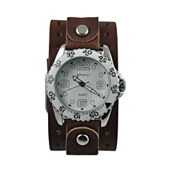 Nemesis Men's Groovy Leather Strap Watch
