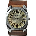 Nemesis Men's Retro Leather Strap Watch