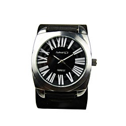 Nemesis Men's Retro Roman Numeral Leather Strap Watch