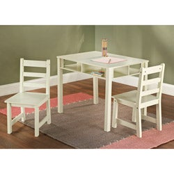 3-Piece Kids Storage Table and Chair Set