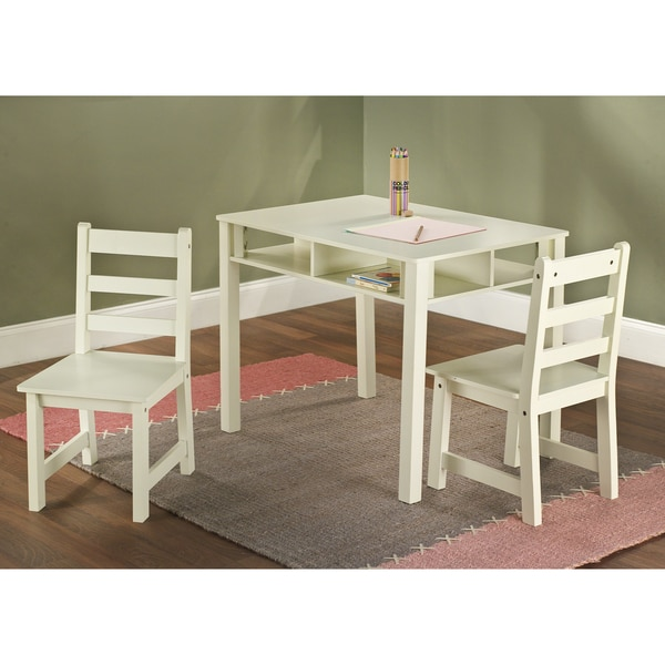 Simple Living 3-Piece Kids Storage Table and Chair Set