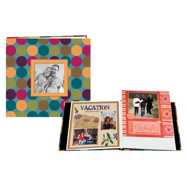 Pioneer 12 x 12-Inch PVC-Free Designer Raised-Frame Scrapbook with Bonus Refill Pages