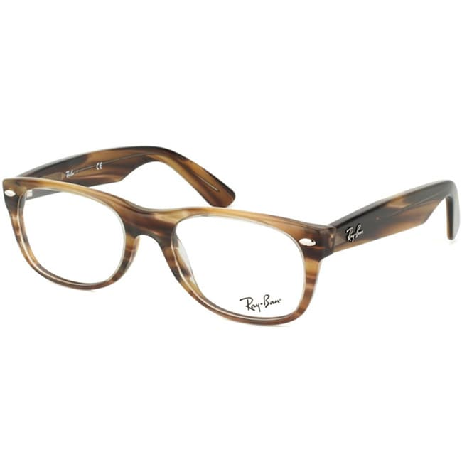 Ray-Ban Unisex RX 5184 New Wayfarer Brown Striped Optical ...