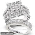 Annello 14k Gold 2 4/5ct TDW Diamond Halo Bridal Ring Set (H-I, I2-I3)