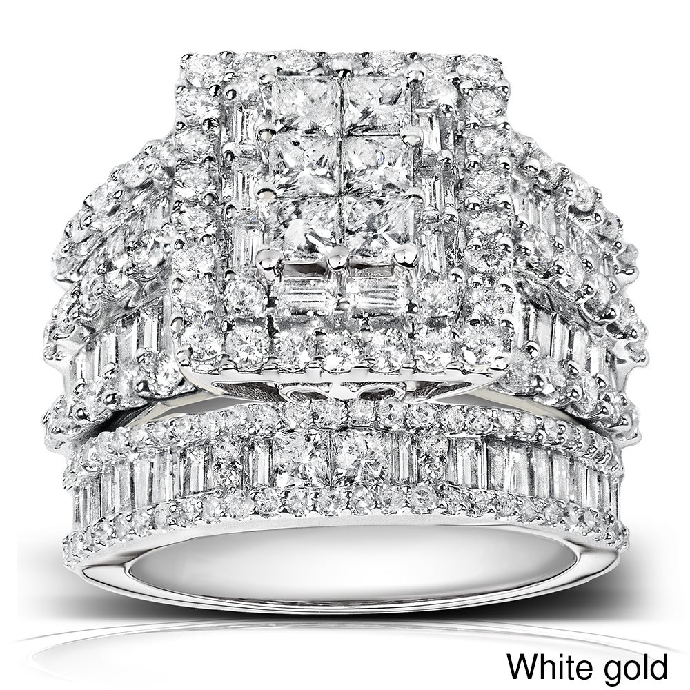Annello 14k Gold 2 4/5ct TDW Diamond Halo Bridal Ring Set (H-I, I2-I3) at Sears.com