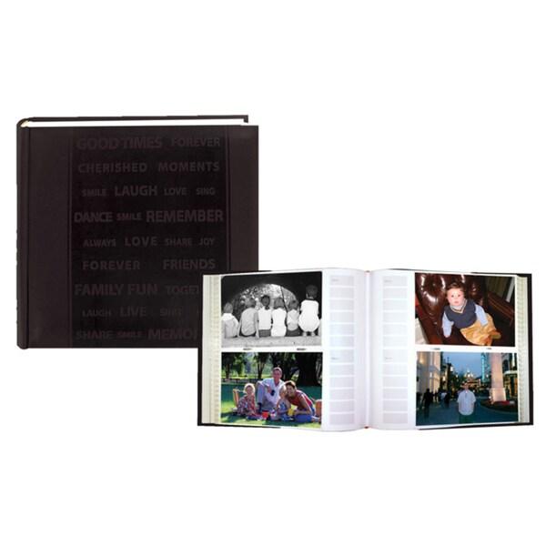 Pioneer Word Embossed Leatherette Cover Photo Album Set