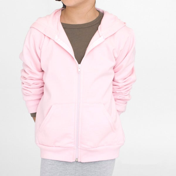 American Apparel Girls' California Fleece Zip Hoody