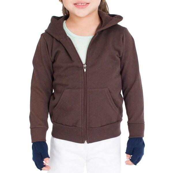 American Apparel Kids' California Fleece Raglan Zip Hoody