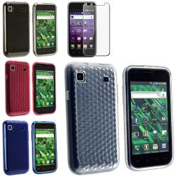 TPU Rubber Skin Cases/ LCD Protector for Samsung Galaxy S 4G SGH-T959v