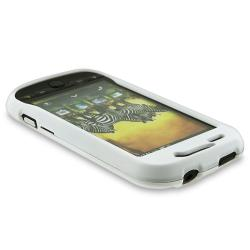 White Rubber Coated Case/ LCD Protector for HTC/ T-Mobile MyTouch 4G