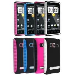 Pink/ Black/ Blue/ White Hybrid Cases for HTC EVO 4G/ Supersonic
