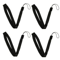 Black Wrist Strap for Nintendo Wii Remote Controller (Pack of 4)