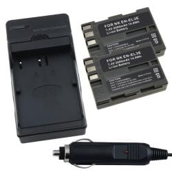 Battery/ Charger Set for Nikon EN-EL3E/ D700/ D300/ D200/ D80/ D90