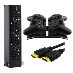 HDMI Cable/ Cooling Fan/ Dual-charging Station for Sony PlayStation 3