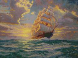 "Thomas Kinkade Courageous Voyage Counted Cross Stitch Kit-16""X12"" 16 Count"