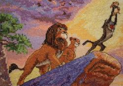 """Disney Dreams Collection By Thomas Kinkade The Lion King-5""""X7"""" 16 Count"""