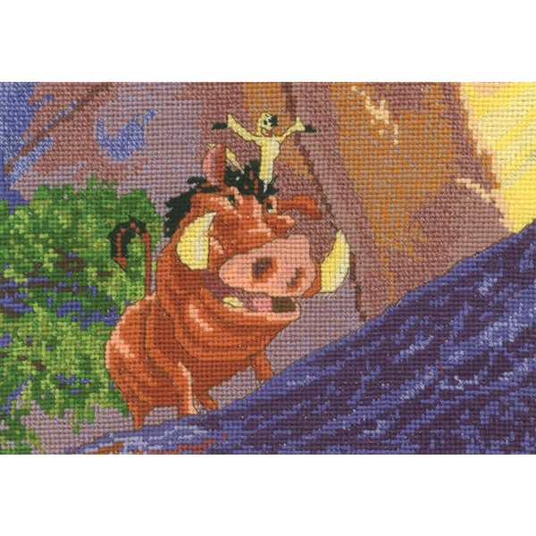 "Disney Dreams Collection By Thomas Kinkade Pumbaa & Timon-5""X7"" 16 Count"