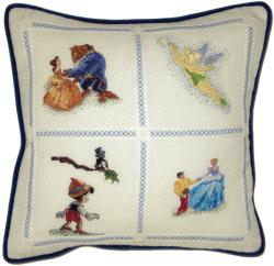 "Disney Dreams Collection Pillow Counted Cross Stitch Kit-14""X14"" 18 Count"